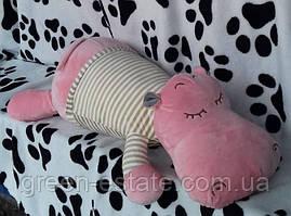 Детская мягкая игрушка с пледом Бегемотик