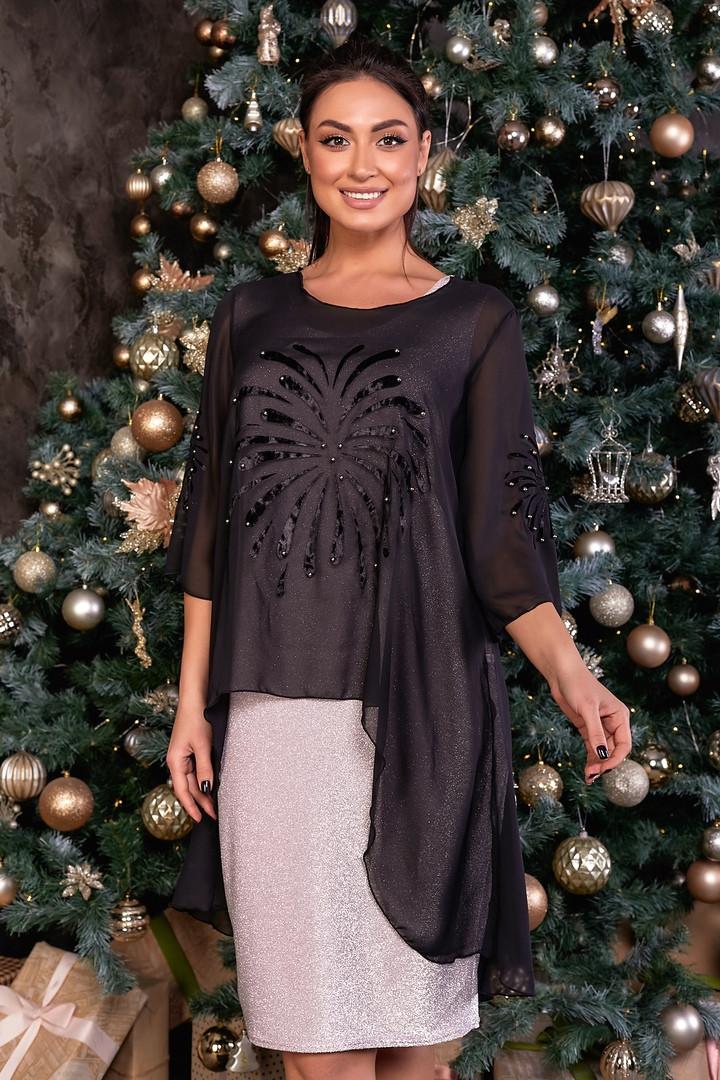 Трикотажне жіноче плаття великий розмір: 50,52,54,56,58,60