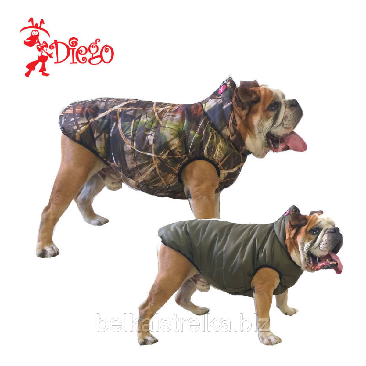 Жилет для собаки двухсторонний DIEGO sport double 5/8 Хантер, размер 5
