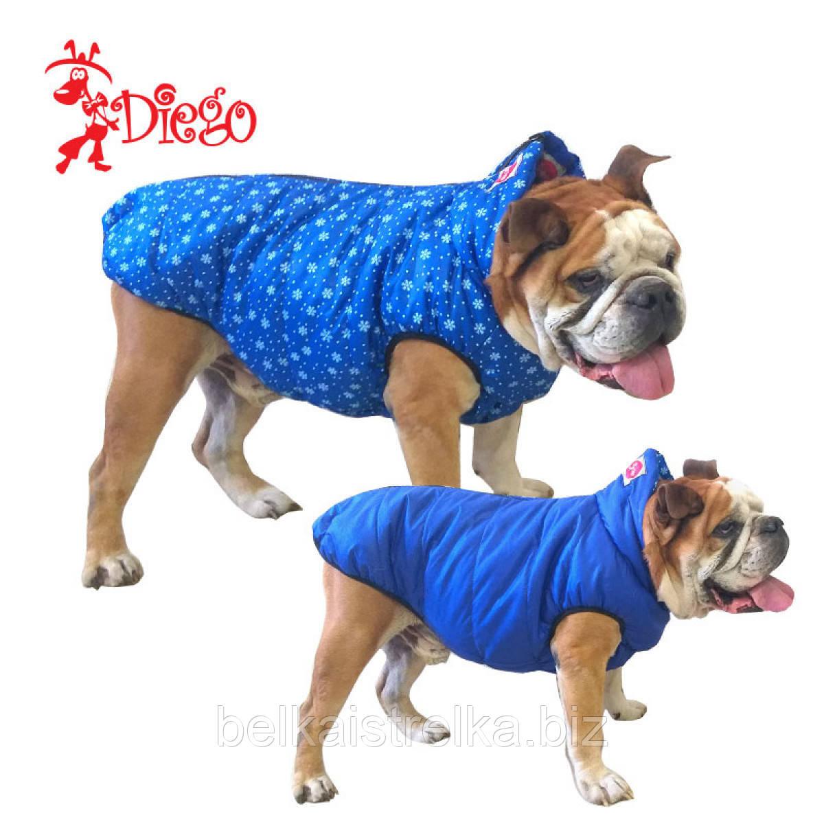 Жилет для собаки двухсторонний DIEGO sport double 5/9 Снежинки, размер 5