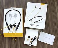 Беспроводные блютуз наушники Realme Buds wireless с креплением на шее для спорта Bluetooth 5 с микрофоном