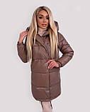 Куртка женская зимняя зефирка из эко кожи тёплая, фото 4