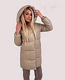 Куртка женская зимняя зефирка из эко кожи тёплая, фото 3
