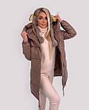 Куртка женская зимняя зефирка из эко кожи тёплая, фото 6