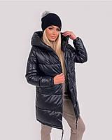 Куртка женская зимняя зефирка из эко кожи тёплая