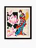 Схема для вишивки бісером Дівчина з лотосом