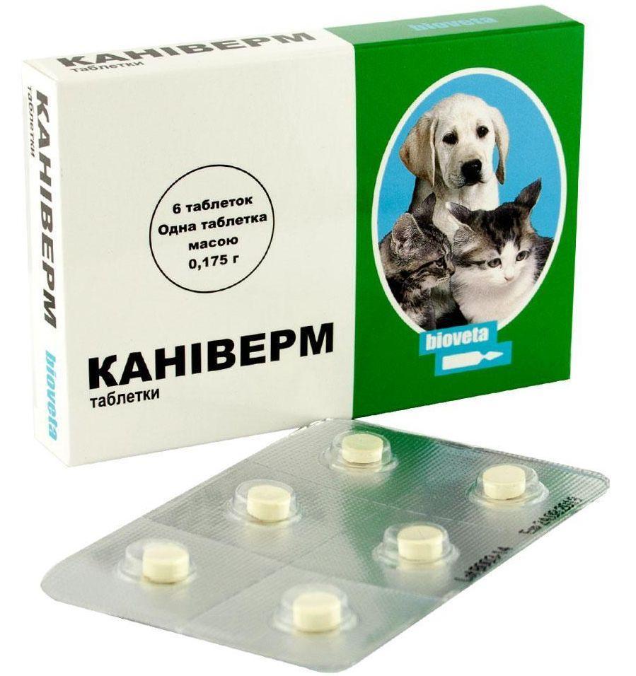 КАНИВЕРМ CANIVERM таблетки от глистов для кошек и собак весом от 0,5 до 2 кг, 6 таблеток