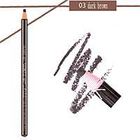 """Карандаш разметочный для бровей """"AOLILI"""", цвет №03 темно-коричневый (самозатачивающийся)"""