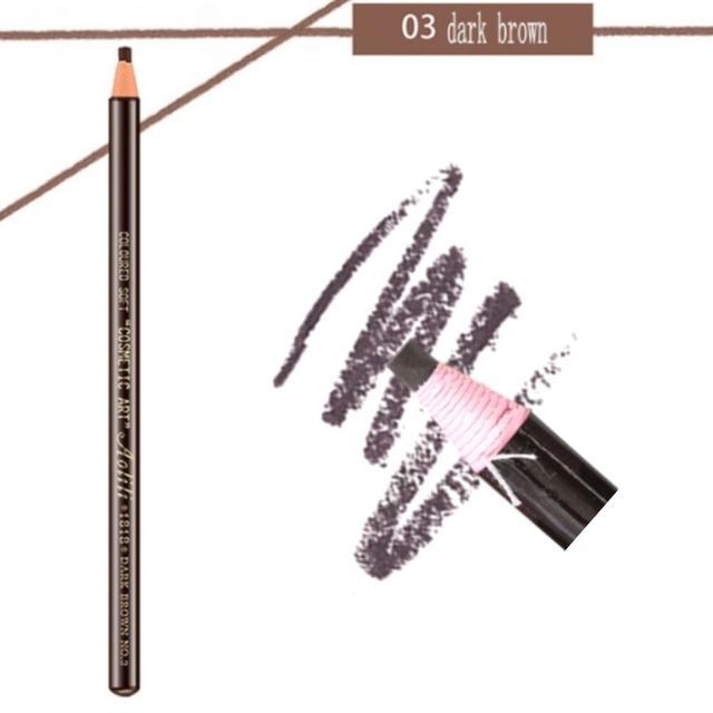 Карандаш разметочный для бровей, цвет №03 темно-коричневый   (самозатачивающийся, водостойкий)