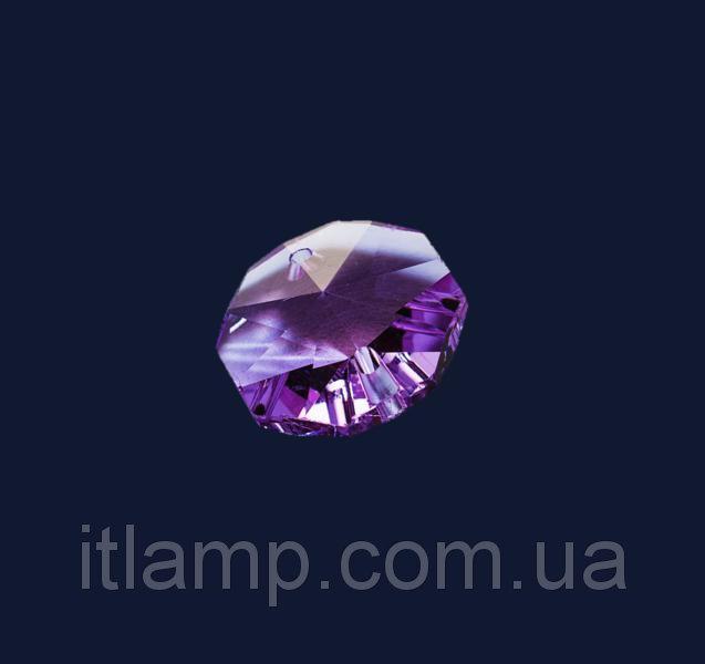 Бусинка плоская Levistella 14мм фиолетовая