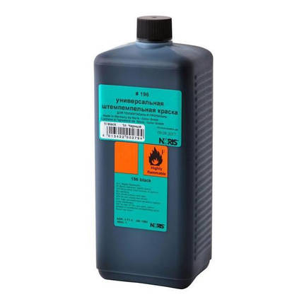 Штемпельна фарба для пластику та поліетилену (синя), Noris 196 EB 1,0, фото 2