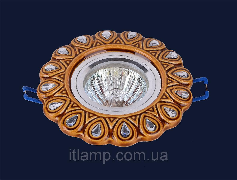 Точечные светильники врезные золото Levistella 705N117