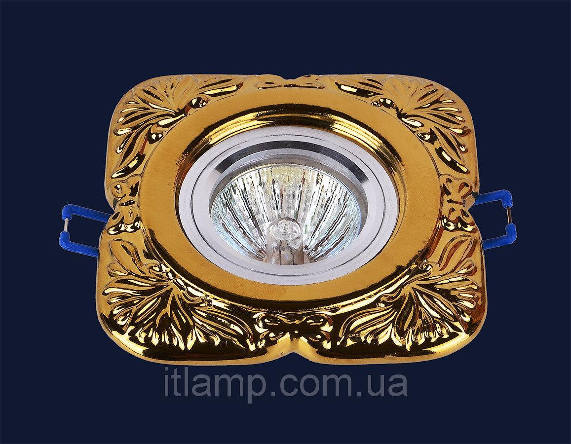 Точечные светильники врезные золото Levistella 705N119