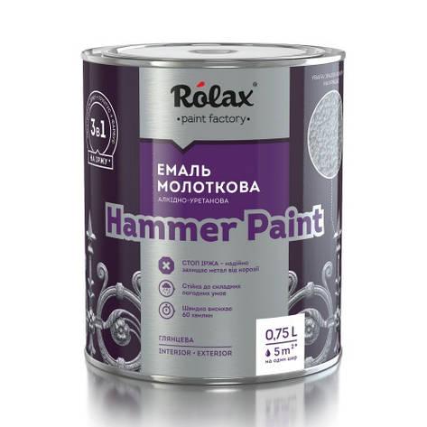 Эмаль молотковая Rolax HAMMER PAINT, Зеленый 750мл, фото 2