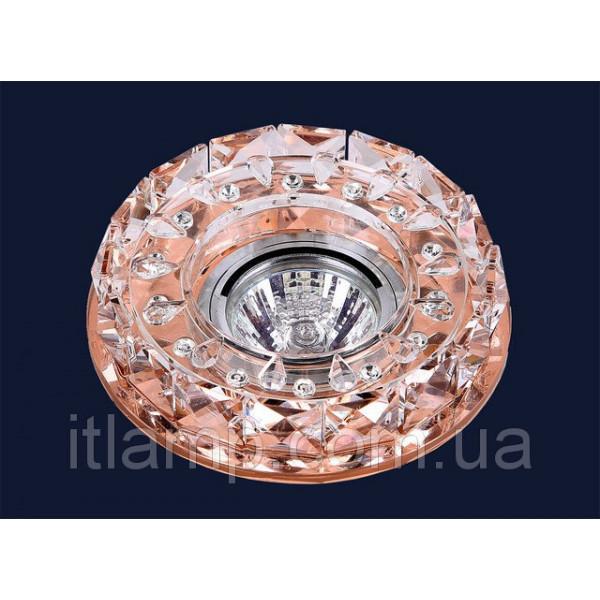 Точечные светильники врезные Зеркальный с хрусталем Levistella 716B019