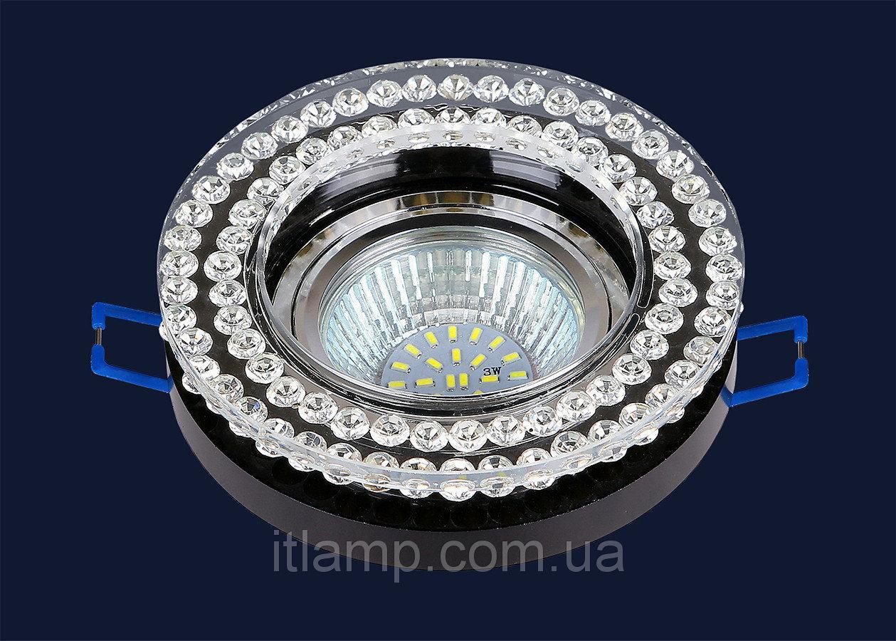 Точечные светильники врезные круглый со стразами Levistella 716MKD078