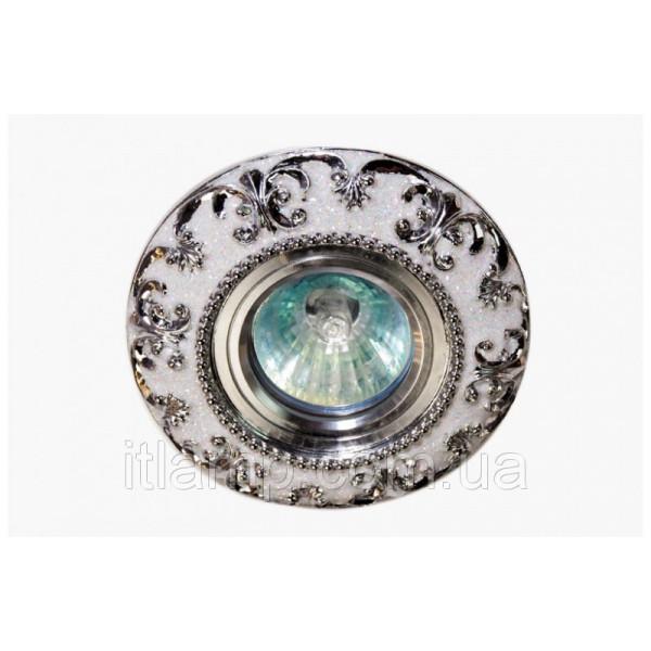 Точечные светильники врезные Керамика белый с серебром Linisoln 3177 CR