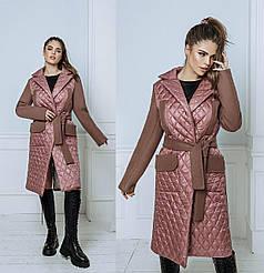Пальто кашемир+плащевка в расцветках 704066