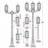 Вуличний ліхтар підвісний LusterLicht 1635 Lettera, фото 2