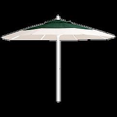 Зонт профессиональный Papatya Ø 3 м круглый бежевый с зеленым