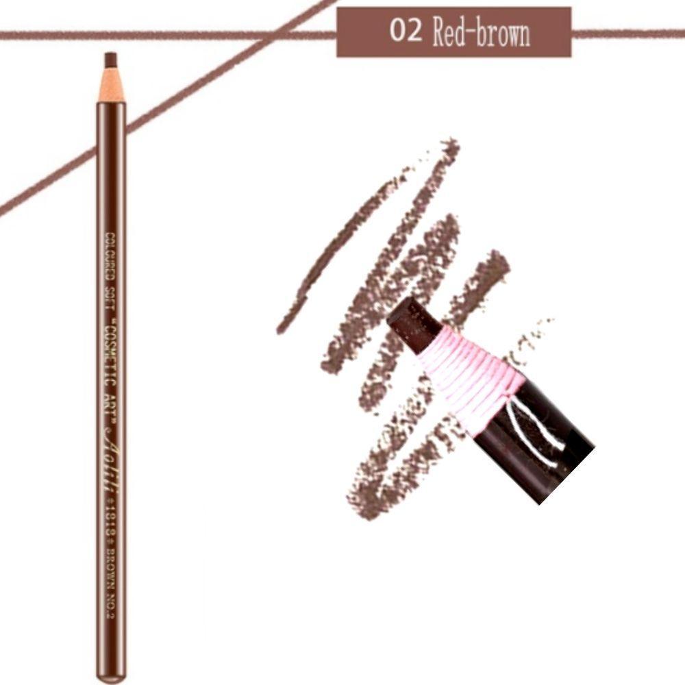 """Карандаш разметочный для бровей """"AOLILI"""", цвет №02 коричневый (самозатачивающийся)"""