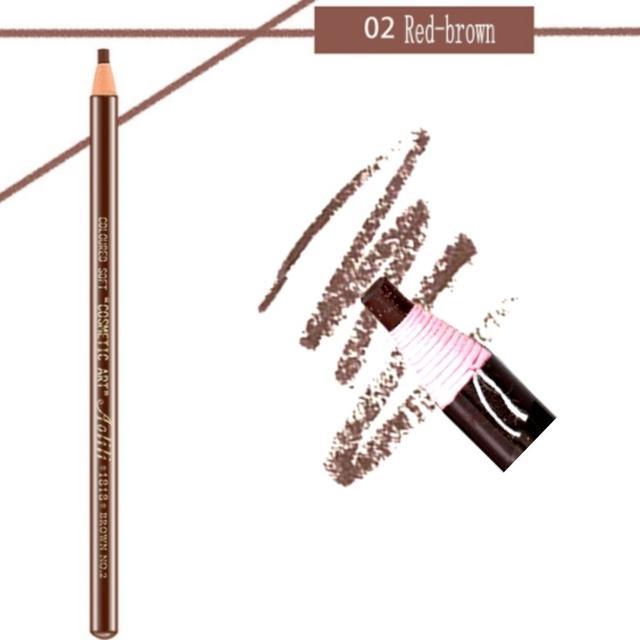 Карандаш разметочный для бровей, №02 коричневый (самозатачивающийся, водостойкий)