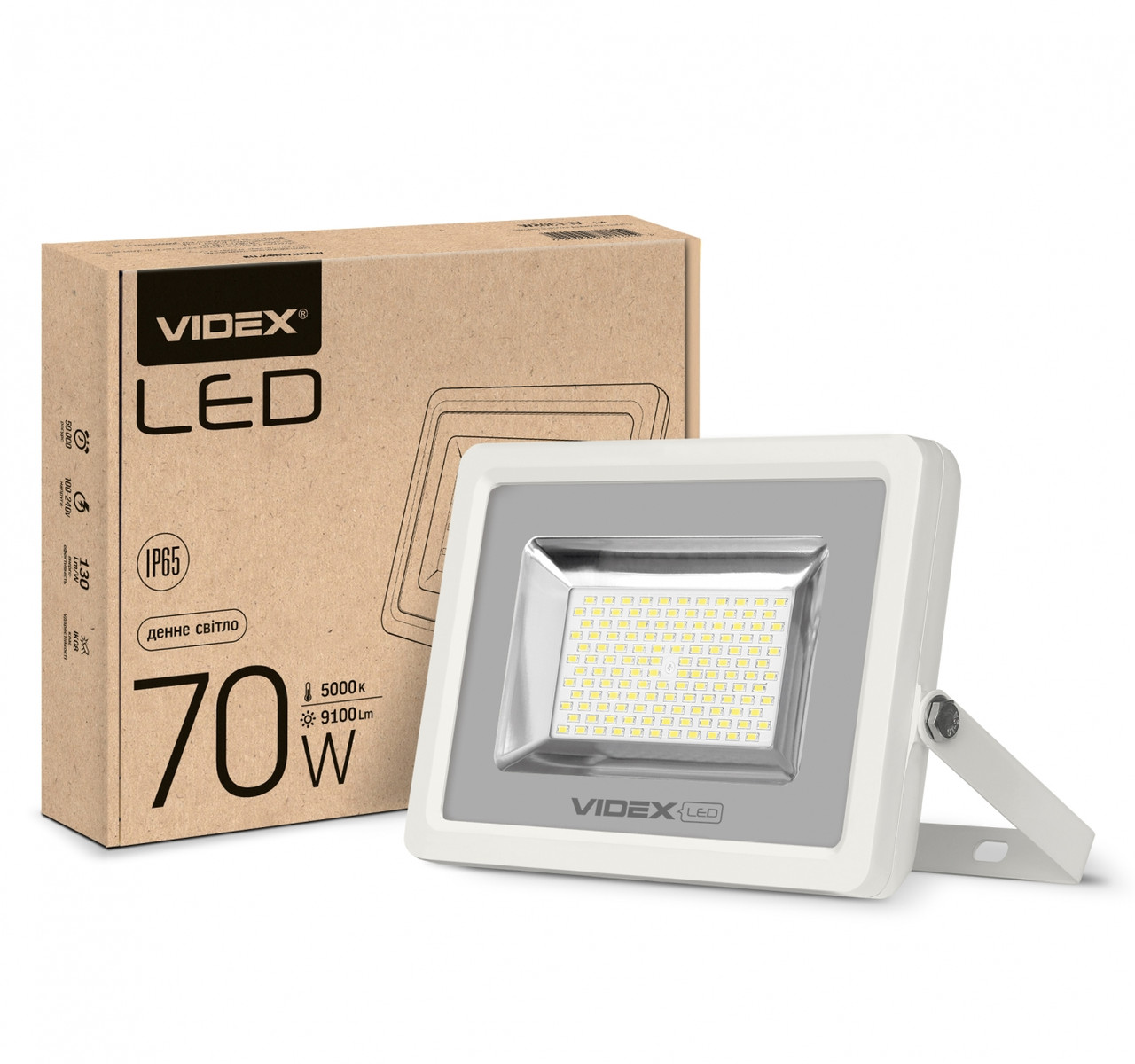 LED прожектор VIDEX PREMIUM 70W 5000K 220V White (VL-F705W)