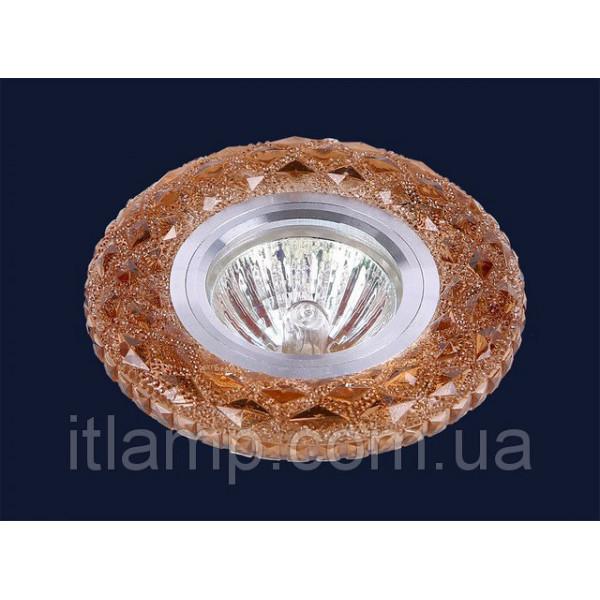 Точечные светильники врезные Коричневое стекло с насечками Levistella 705A42