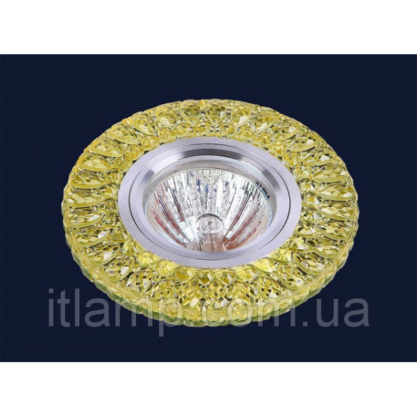 Точечные светильники врезные Стекло с желтым хрусталем Levistella 705A63