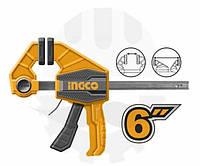 Струбцина быстрозажимная автомат  63 * 150мм   INGCO INDUSTRIAL