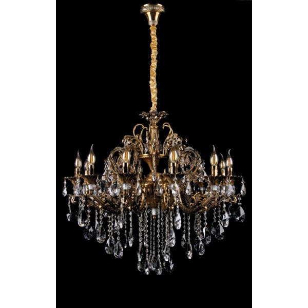 Люстра светильник в классическом стиле с хрустальными подвесками Splendid-Ray 30-3342-72
