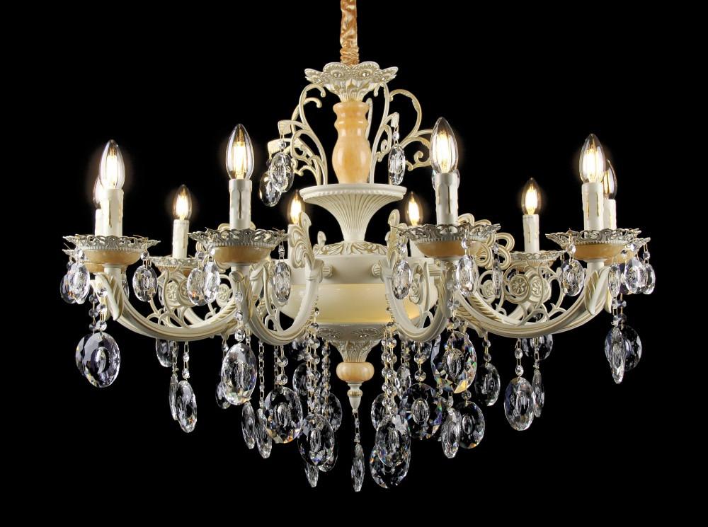 Люстра светильник в классическом стиле с хрустальными подвесками Splendid-Ray 30-3304-45
