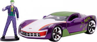 Машина металлическая Jada Chevrolet Corvette Stingray Concept (2009) + фигурка Джокера 1:24 (253225020)