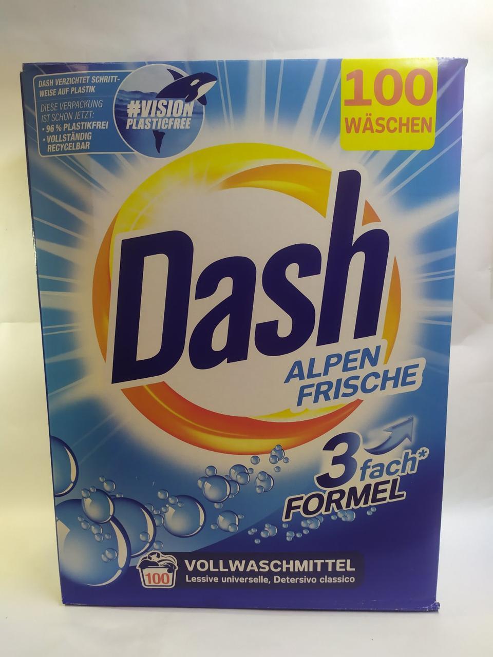Стиральный порошок универсальный Dash Alpen Frische 6.5 кг