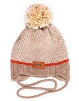 Детская шапка на завязках для мальчика, р. 44-48