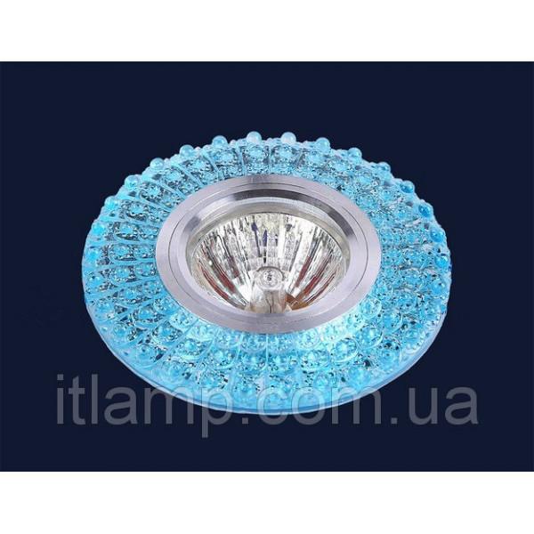 Точечные светильники врезные Бирюзовое стекло Levistella 705A24