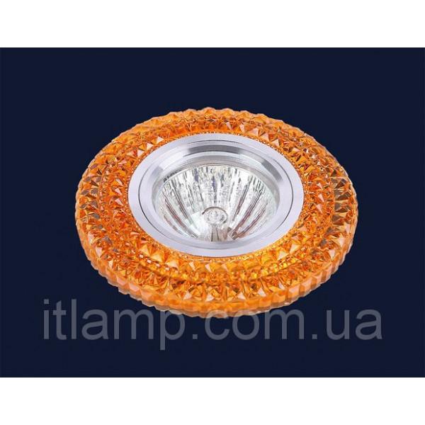 Точечные светильники врезные Оранжевое стекло Levistella 705A36