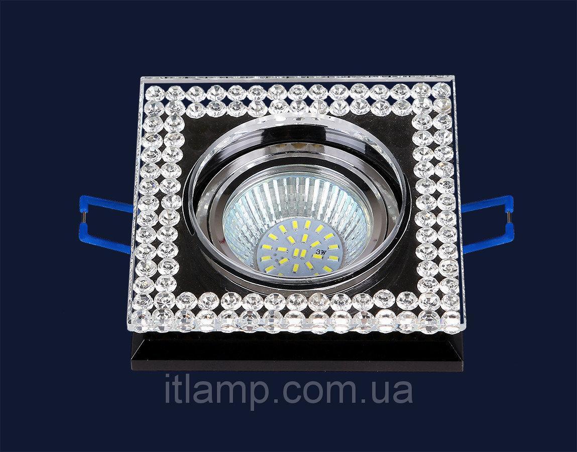 Точечные светильники врезные Черный со стразами Levistella 716MKD088