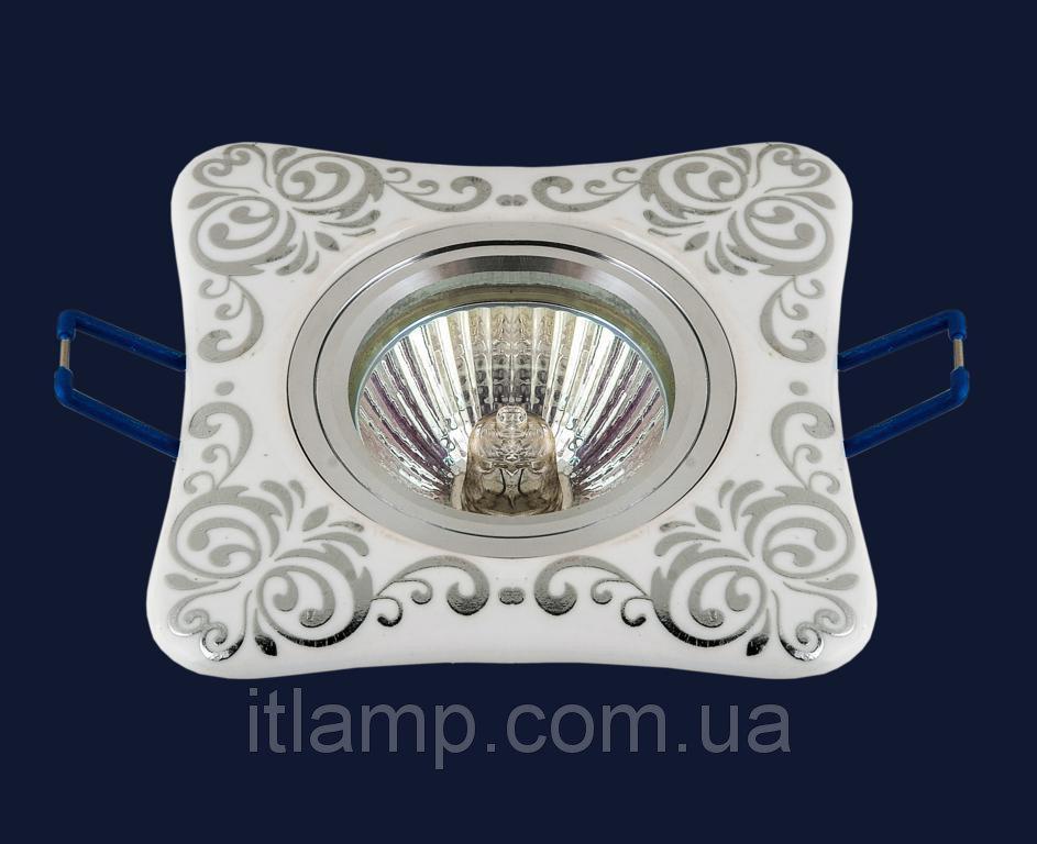 Точечные светильники врезные со стеклом Levistella 70595 CR