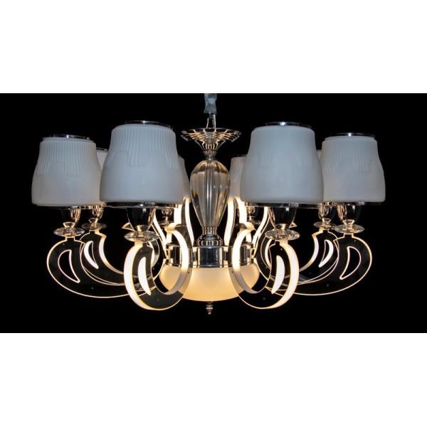 Люстры светильники в классическом стиле с абажурами и светодиодной лед подсветкой Linisoln 8373/8