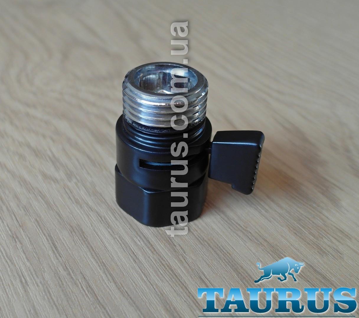 """Чорний компактний Micro кран Eco Black (Польща, 1/2"""") для прихованого підключення рушникосушок"""