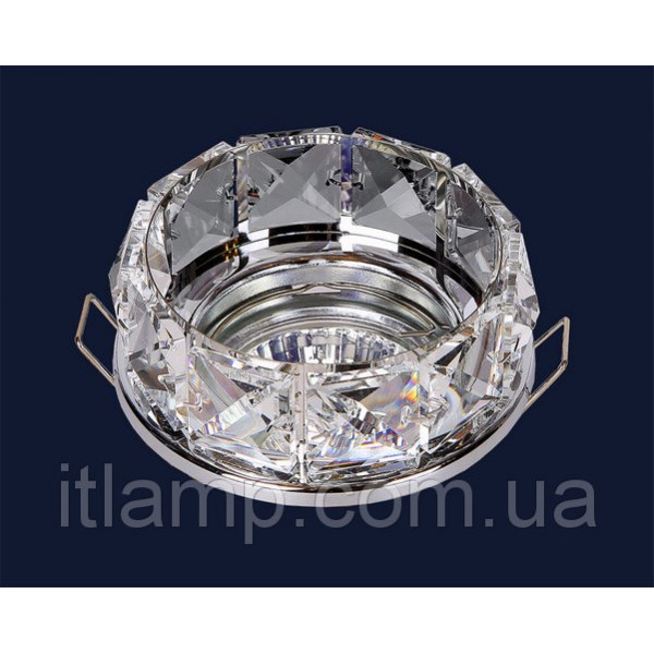Точечные светильники С квадратными стазами серебро Levistella 712A2293 CH/CL