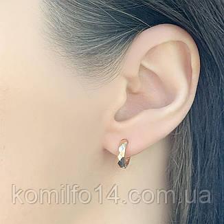 Золотые серьги Komilfo без камней (2055679), фото 2