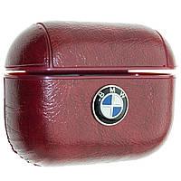 Кожаный чехол Aare BMW для наушников AirPods Pro Бордовый 00007757, КОД: 1580369