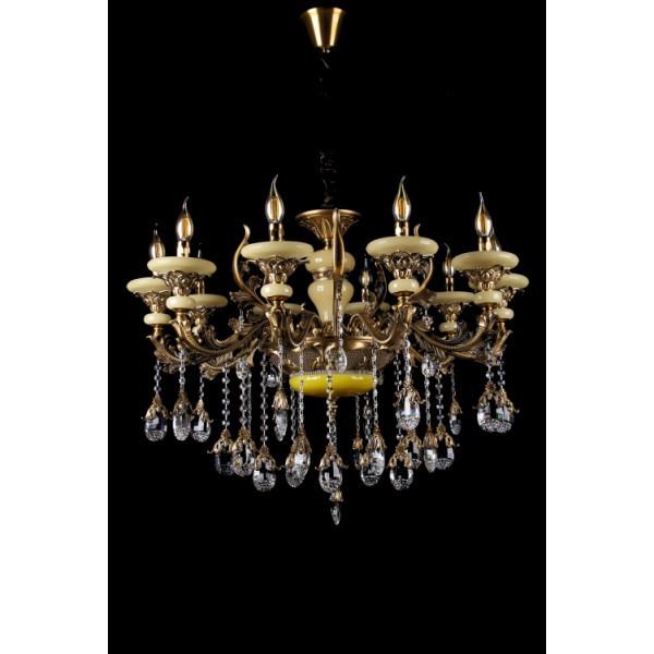 Люстра светильник в классическом стиле с хрустальными подвесками Splendid-Ray 30-3326-45