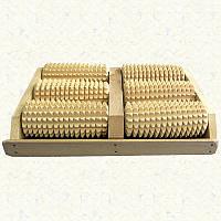 Массажер деревянный роликовый для ног 50-08