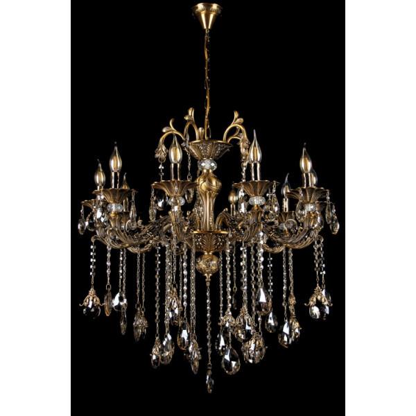 Люстра светильник в классическом стиле с хрустальными подвесками Splendid-Ray 30-3333-18