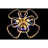 Світлодіодна люстра Linisoln 6521/4+4 Gold, фото 4