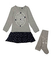 Костюм: Платье, колготы Losan Mc baby girls (526-8044AD/66) Темно-серый 2 Years-92 см