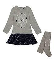 Костюм: Платье, колготы Losan Mc baby girls (526-8044AD/66) Темно-серый 4 Years-104 см